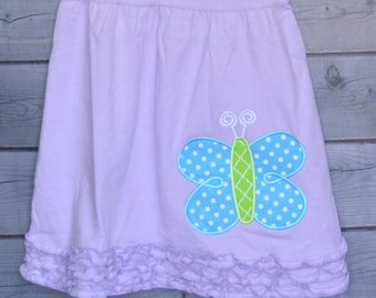 Personalized Butterfly Applique Dress