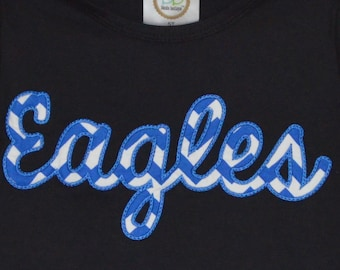 Personalized Eagles Football Applique Shirt or Bodysuit