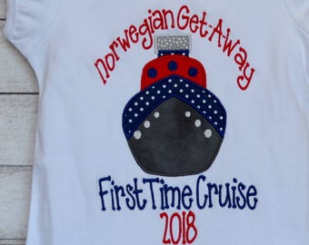 Personalized Ship Applique Shirt or Bodysuit Boy or Girl