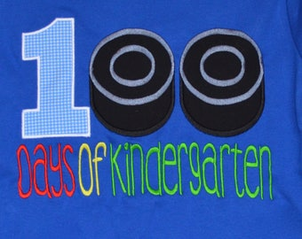 100 Days of School Football Applique Shirt or Bodysuit Boy or Girl