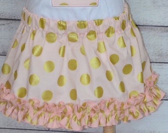 Custom Scrunchy Ruffle Bottom Twirl Skirt for Girls 12 Months - 8 Years Choose your Colors and Fabrics