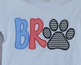 Personalized Big Little Bro Big Little Sis Applique Shirt or Bodysuit Girl or Boy