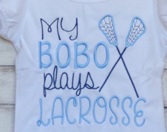 Personalized I don't have a life, my brothers play LaCrosse  Applique Shirt or Bodysuit Girl or Boy