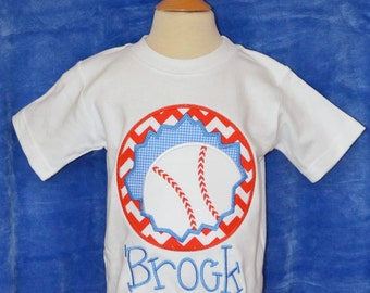 Personalized Baseball Patch Applique Shirt or Bodysuit Boy