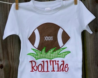 Personalized Football  Applique Shirt or Bodysuit