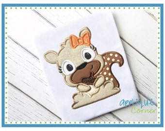 Personalized Girly Squirrel Applique Shirt or Bodysuit