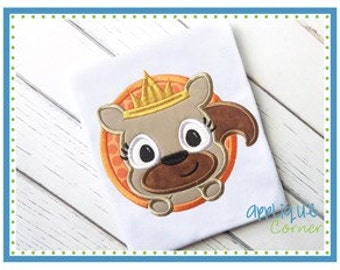 Personalized Girly Squirrel with a Crown Applique Shirt or Bodysuit