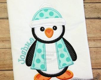 Penguin Applique Shirt or Bodysuit Boy or Girl Choose your color!