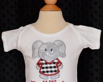 Personalized Football Team Mascot Elephant Cougar Wild Cat Gator Tiger Applique Shirt or Bodysuit