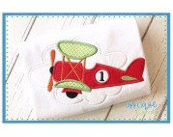 Personalized Airplane Applique Shirt or Bodysuit Girl or Boy