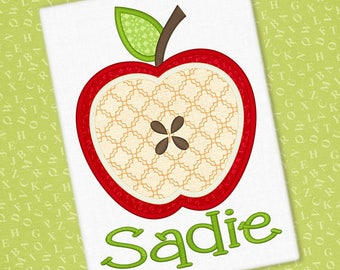 Personalized Fall Apple Applique Shirt or Bodysuit for Boy or Girl