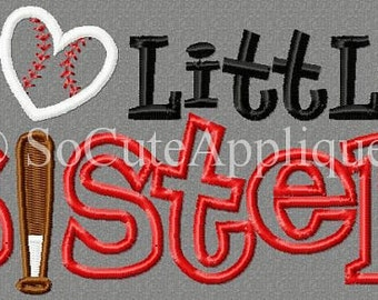 Personalized Big Little Brother Big Little Sister Baseball Applique Shirt or Bodysuit Girl or Boy