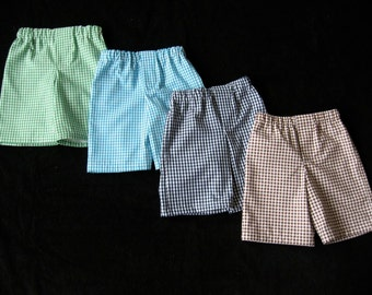 Matching Shorts for Boys Ginghams, Seersuckers, Stripes, Solids, Chevrons, etc...