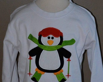 Penguin Applique Shirt or Bodysuit Boy or Girl