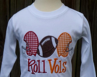 Personalized Football Helmets House Divided Applique Shirt or Bodysuit
