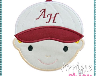 Personalized Boy or Girl Baseball Player Applique Shirt or Bodysuit