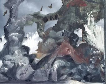 Rocky Sculptured Coast 11x14 panel/Oil Painting