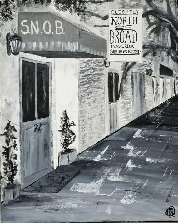 24x30 Snob Slightly North Of Broad Charleston Etsy