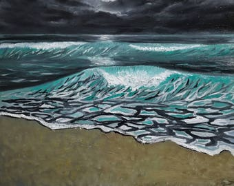Contrasting Waves 16x20/Oil Painting