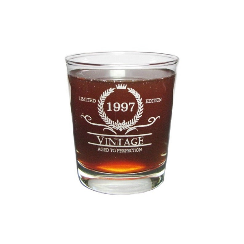 70th Birthday Vintage 1949 Stemmed Wine Glass with Charm and Presentation Packaging