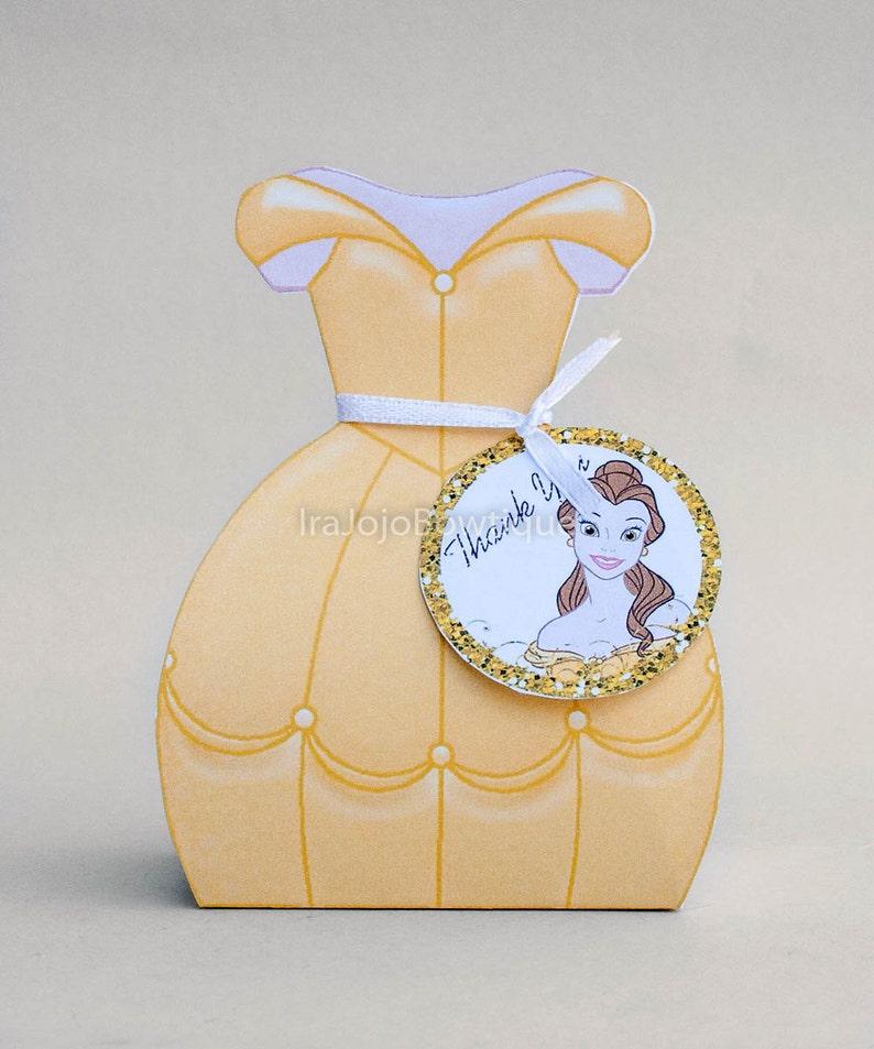 Goodie Box. Beautiful and Beast Princess Gift Box Favor Box