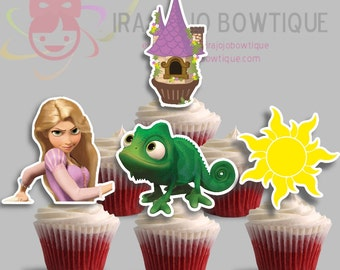 Sale!! Cupcake Toppers Princess Tower