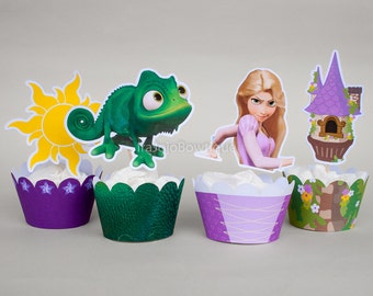 Princess Tower Cupcake Wrapper & Topper Set
