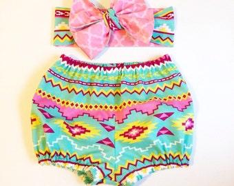 Aztec Print Bloomers/Skirt Set