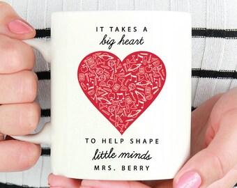 it takes a big heart / teacher gift / teacher appreciation gift / shape little minds / gift for teacher / teacher appreciation teacher gift