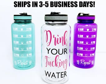 water bottle // drink your fucking water // drink your water // effing water // water tracker // effing // water intake tracker // water