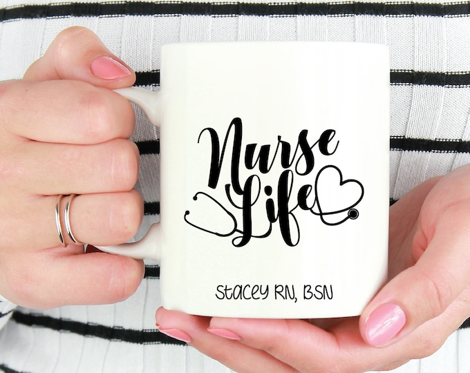 nurse mug / nurse gift / gift for nurse / nurse coffee mug / nurse graduation / nurse appreciation / nurse / registered nurse mug / rn mug