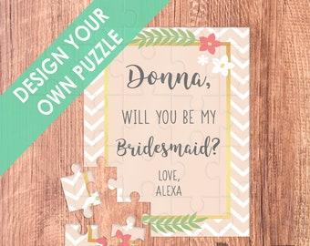 bridesmaid puzzle / will you be my /bridesmaid proposal / be my bridesmaid / bridesmaid / puzzle invitation / bridesmaid / puzzle / MOH