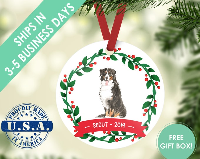 bernese mountain dog ornament Dog ornament pet ornament custom dog ornament personalized dog dog lover gift dog christmas ornament