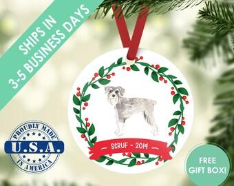 Schnauzer ornament Dog ornament pet ornament custom dog ornament personalized dog dog lover gift dog christmas ornament schnauzer miniature