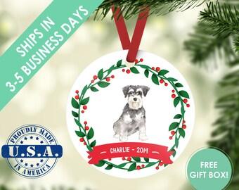 Schnauzer ornament Dog ornament pet ornament custom dog ornament personalized dog dog lover gift dog christmas ornament miniature schnauzer