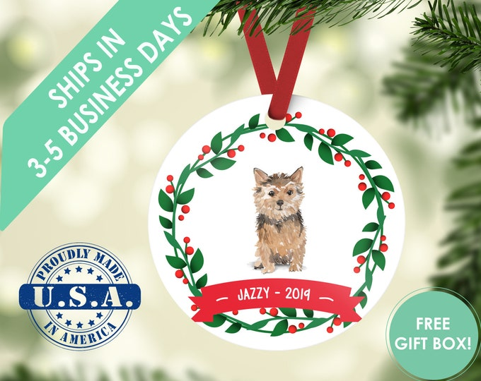 norfolk terrier ornament Dog ornament pet ornament custom dog ornament personalized dog dog lover gift dog christmas ornament terrier gift