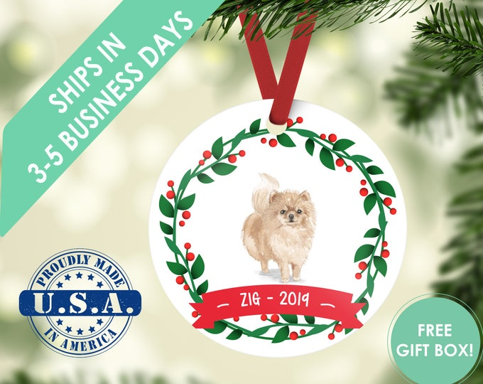 pomeranian ornament Dog ornament pet ornament custom dog ornament personalized dog dog lover gift dog christmas ornament pomeranian gift