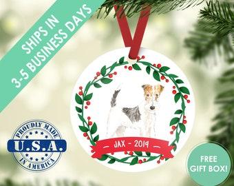 Fox Terrier ornament Dog ornament pet ornament custom dog ornament personalize dog dog lover gift dog christmas ornament terrier ornament