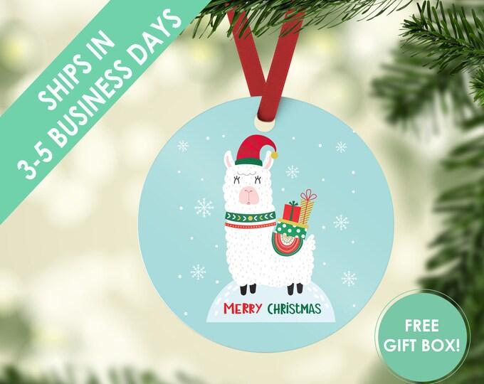 Ready to Ship - Merry Christmas Llama Christmas Ornaments - Llama Ornaments for Children - Llama Gift - Christmas Gift Llama Llama Ornament