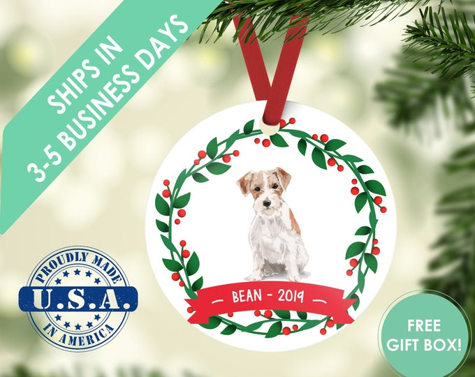 jack Russell  ornament Dog ornament pet ornament custom dog ornament personalized dog dog lover gift dog christmas ornament terrier ornament