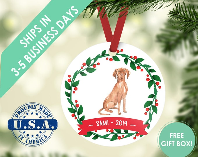 Hungarian Vizsla ornament Dog ornament pet ornament custom dog ornament personalized dog dog lover gift dog christmas ornament vizsla dog