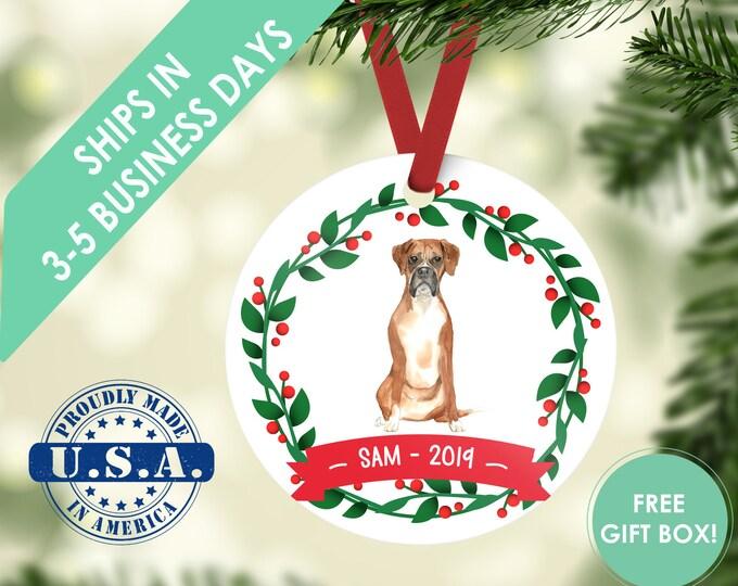 Boxer ornament Dog ornament pet ornament custom dog ornament personalized dog dog lover gift dog christmas ornament Boxer custom ornament