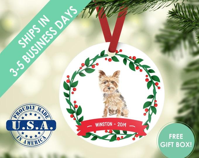 yorkie ornament Dog ornament pet ornament custom dog ornament personalize dog dog lover gift dog christmas ornament yorkshire terrier