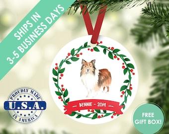 Sheltie ornament Dog ornament pet ornament custom dog ornament personalized dog dog lover gift dog christmas ornament shetland sheepdog