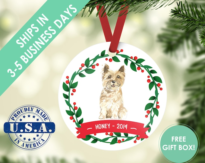 Cairn terrier ornament Dog ornament pet ornament custom dog ornament personalized dog dog lover gift dog christmas ornament terrier ornament
