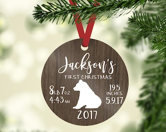 baby's first christmas ornament / christmas ornament / first christmas / baby ornament / baby bear ornament / bear ornament / baby bear