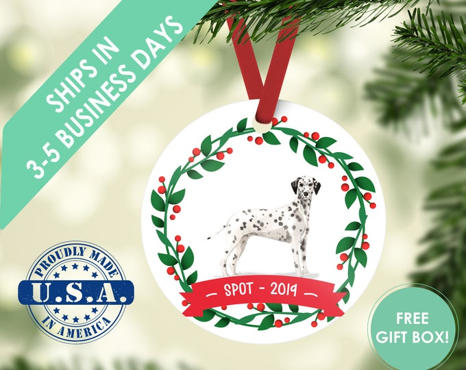 Dalmatian ornament Dog ornament pet ornament custom dog ornament personalized dog dog lover gift dog christmas ornament Dalmatian gift