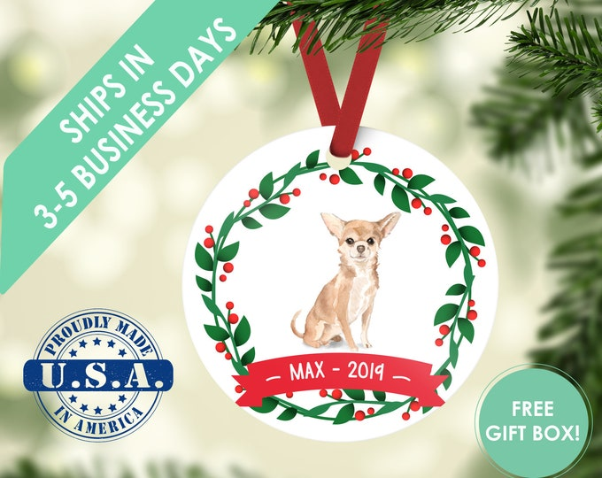 chihuahua ornament Dog ornament pet ornament custom dog ornament personalized dog dog lover gift dog christmas ornament chihuahua gift
