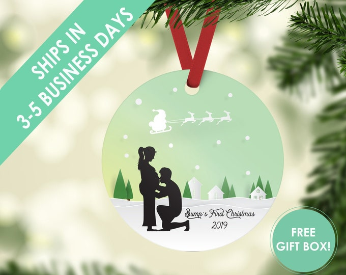 bump's first christmas / baby bump / pregnancy ornament/ baby's first christmas ornament / baby's 1st / first christmas / baby ornament
