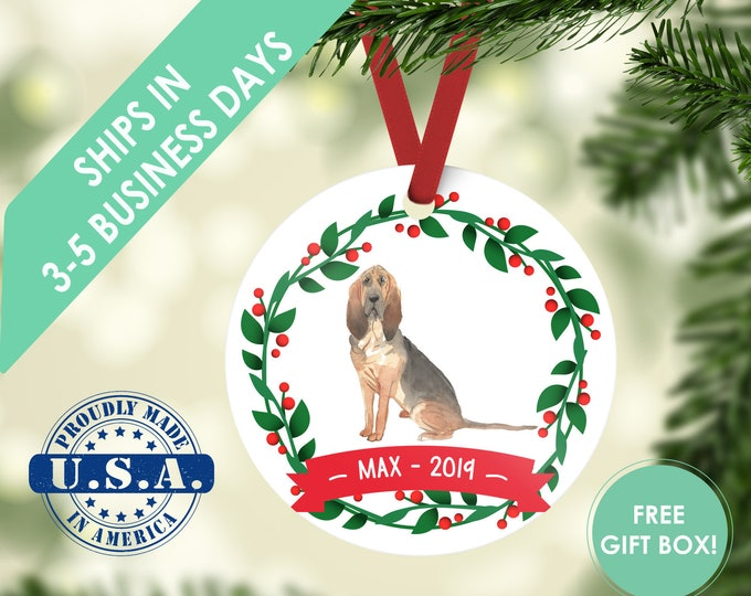 blood hound ornament Dog ornament pet ornament custom dog ornament personalized dog dog lover gift dog christmas ornament bloodhound